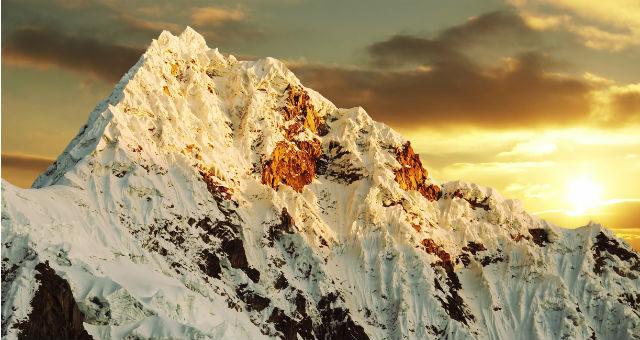 Trekking i Peru rundt om Mount Alpamayo ved Cordillera Blanca